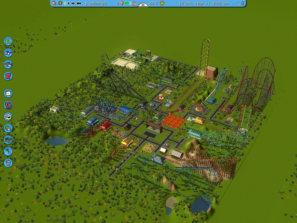 how to delete things on roller coaster tycoon