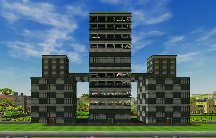Office buildings with attached garage all black no cs for Build office in garage