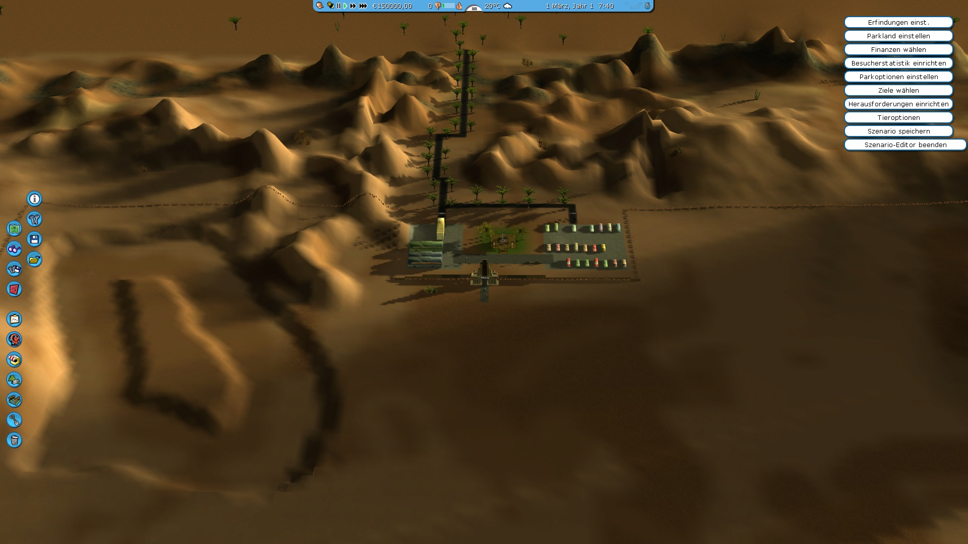 RCT3: Soaked and Wild: Oasis in the desert scenario (english