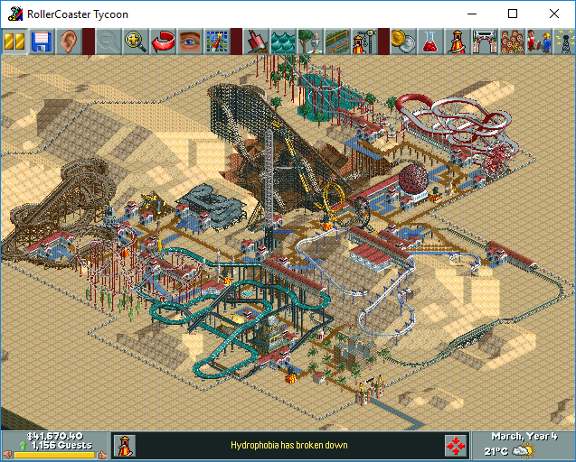 My Roller Coaster Tycoon Saved Games & Tracks Part 1 - Downloads - RCTgo
