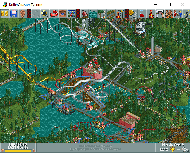 My Roller Coaster Tycoon Saved Games & Tracks Part 1